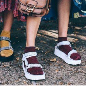 Lavender platform Teva Sandals